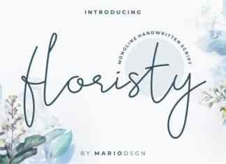 Floristy Handwritten Font