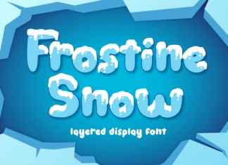 Frostine Snow Display Font