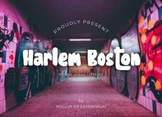 Harlem Boston Display Font