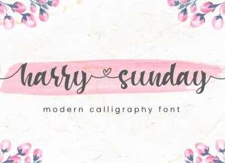 Harry Sunday Calligraphy Font