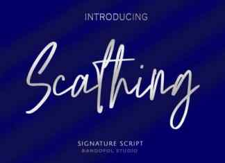 Scathing Handwritten Font