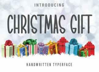 Christmas Gift Display Font