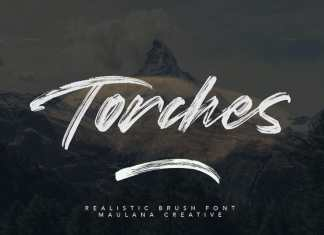 Torches Brush Font