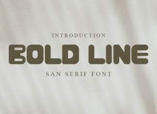 BOLD LINE Display Font