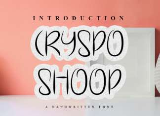 Cryspo Shoop Display Font