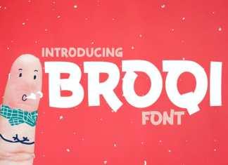 Broqi Display Font