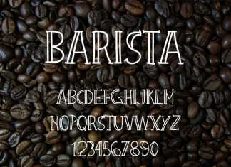 Barista Urban Coffee Display Font