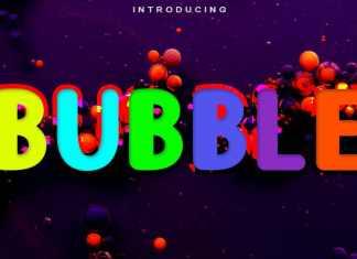 Bubble Display Font