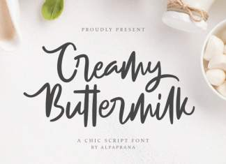 Creamy Buttermilk Script Font