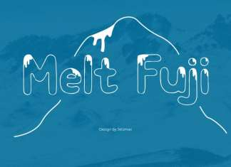 Melt Fuji Display Font