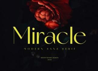 Miracle Sans Serif Font