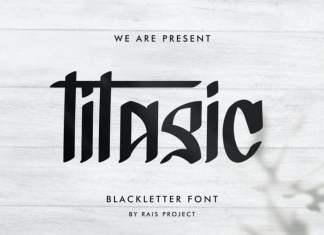 Titasic Blackletter Font