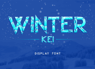 Winter Kei Display Font