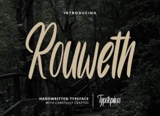 Rouweth Script Typeface
