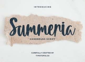 Summeria Handbrush Script Font