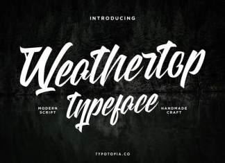 Weathertop Script Typeface