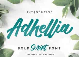 Adhellia Script Font