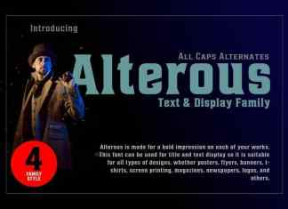 Alterous Display Font