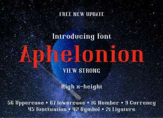 Aphelonion Serif Font