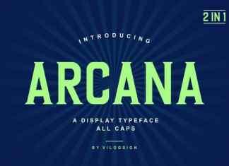 Arcana Display Font