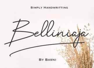 Belliniaja Handwritten Font