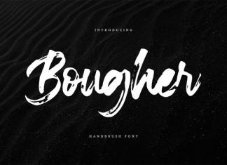 Bougher Brush Font