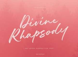 Divine Rhapsody Brush Font