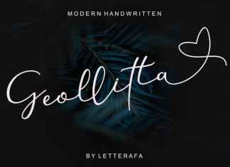 Geollitta Handwritten Font