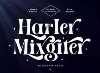 Harler Mixgiter Serif Font