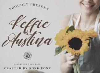 Keffie Austina Script Font