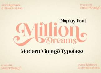 Million Dreams Serif Font
