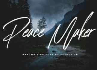 Peace Maker Brush Font