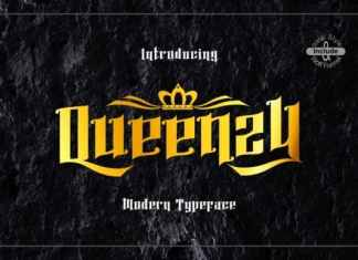 Queenzy Blackletter Font