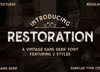 Restoration Display Font