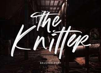 The Knitter Brush Font