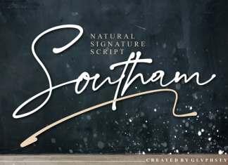 Southam Natural Script Font