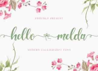 Hello Melda Script Font