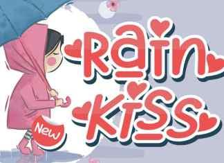 Rain Kiss Display Font