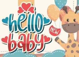 Hello Baby Display Font