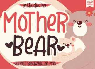 Mother Bear Display Font