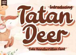 Tatan Deer Display Font