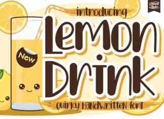 Lemon Drink Display Font