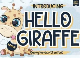 Hello Giraffe Display Font