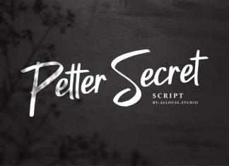 Petter Secret Brush Font