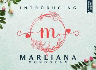Marliana Monogram Display Font