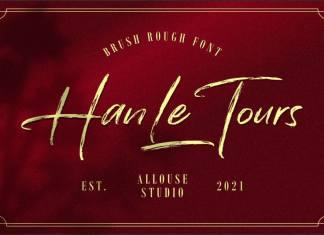 Han Le Tours Brush Font