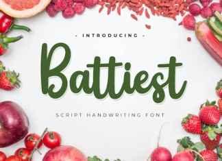 Battiest Script Font