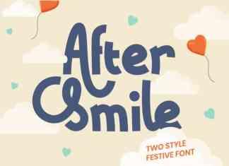 After Smile Display Font