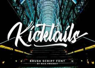 Kicktails Brush Font