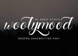 Woolymood Calligraphy Font